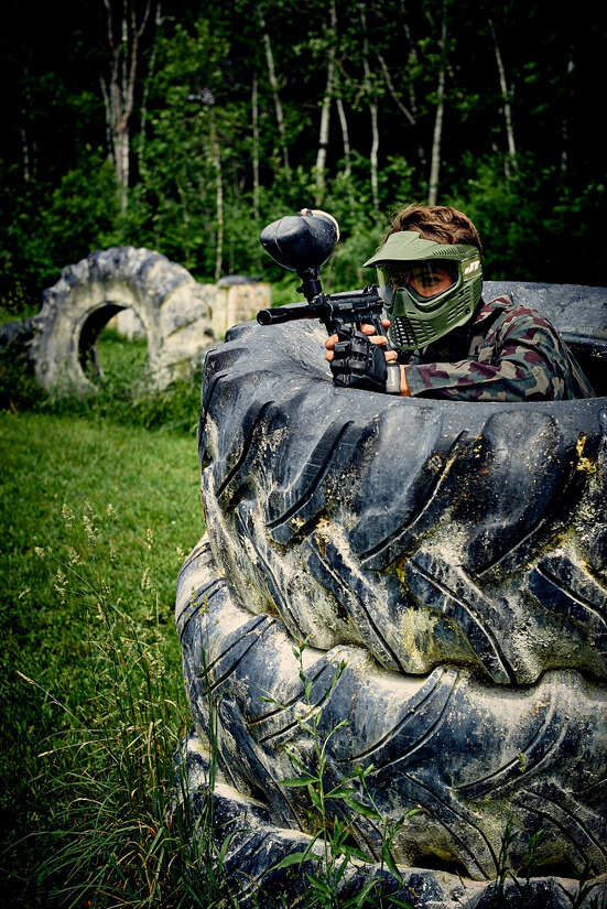 Paintball North-Hatley - Photo terrain action