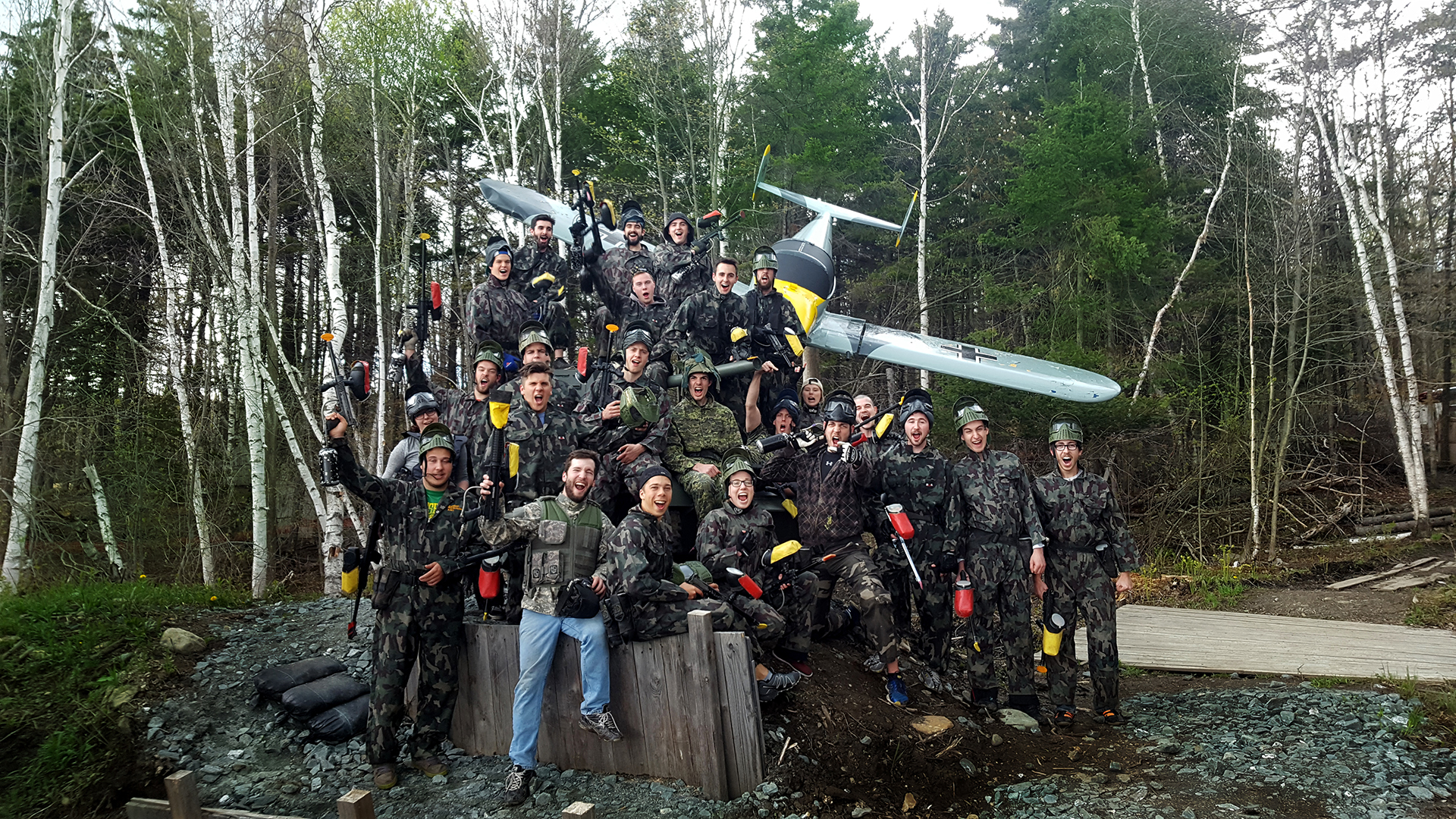 C'est le débarquement officiel au Paintball North Hatley